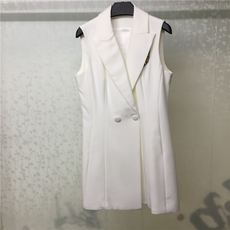 Summer White Dress Women Elegant Sleeveless Dress With Beading 2018 Fashion Women Mini Dress