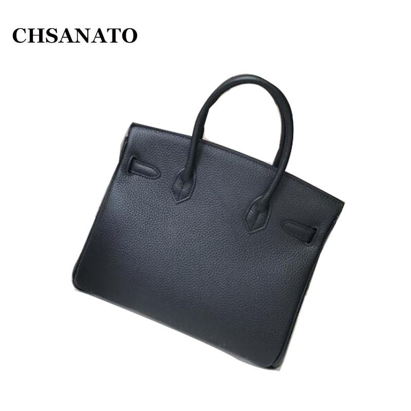 CHSANATO luxe Designer Sac à main de haute qualité pour les femmes célèbre marque clé serrure Sac à main en cuir dames ToteBolsa Feminina Sac