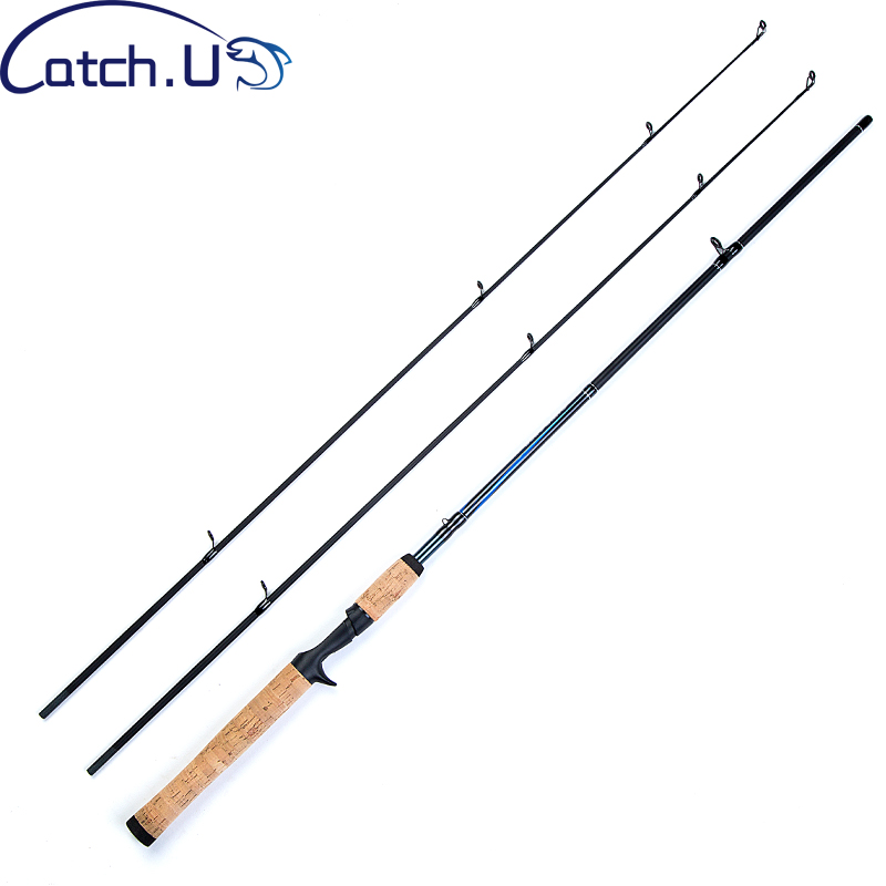 Catch.U 1.8M Casting Spinning Fishing Rod, River Spinning Fishing Rods 2 Tips Carbon Casting Rod