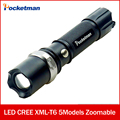 USA FT17 LED Torch Zoomable cree LED Flashlight Torch linternas cree XM-L T6 3800LM for AAA or 1xRechargeable 18650 battery