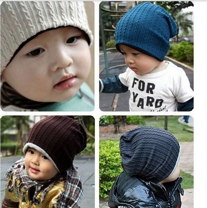 5 Colors Baby Kids Infant Toddler Beanie Hat Warm Winter Boys Girls Cap Children Accessories HT07