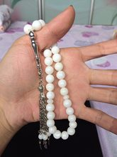 Free shipping Islamic 33 tesbih 100% natural seashell muslim prayer beads Rosary tasbih misbaha tasbeeh masbaha tespih(China)