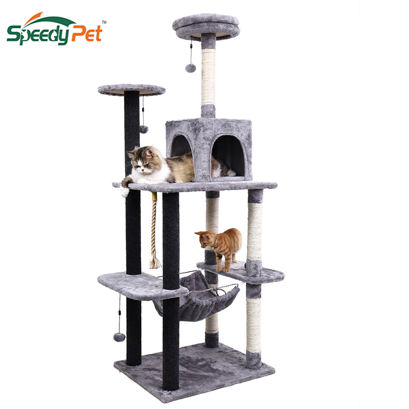 178cm Luxury Cat Scratching Post Large Climbing Frame For Cat Kitterntoys House Multi-functional Cat Tree Board Condo Furniture #2