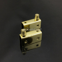 2Pairs/4PCS Gold Small Stainless Steel Hinge Glass Door Pivot Hinges Clamp Clip Install Up and Down For 5-8mm JF1696