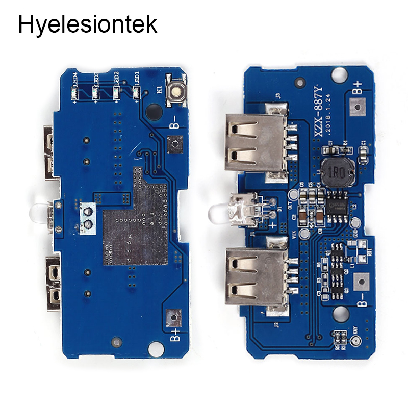 Battery USB Charger Board Power Bank Module 5V 2A 18650 Lithium Lipo Charging Dual Micro USB Boost Step Up Mobile Power Supply image