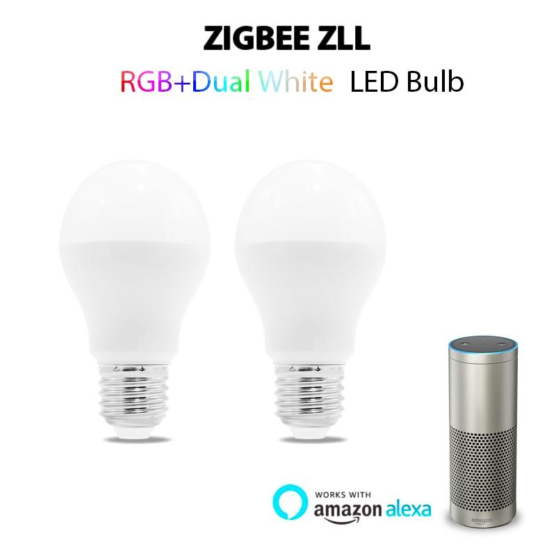 Gledopto 6w Rgb+Cct Led Bulb Zigbee Zll Lingt Link Rgb+Cct Led Bulb Compatible With Amazon Echo Plus And Many Gateways Colorful