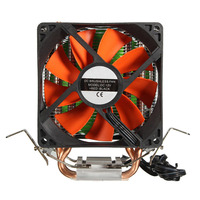 Top Quality Dual Fans Hydraulic Cooling Heatpipe Heatsink Radiator For Intel LGA775 1156 1155 AMD AM2
