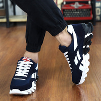 2016 Men Air Cushion run Shoes Men Lace up Red Blue Spring Autumn Walking Jogging sport Shoes Mens Trainers chaussure homme