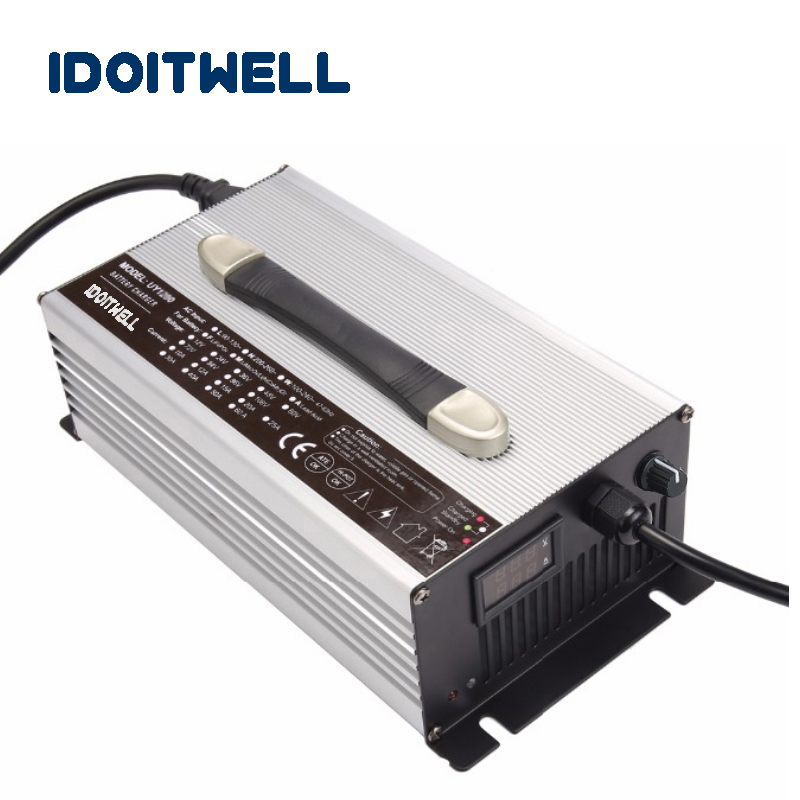 Customized 1200W adjustable current Battery Charger 48V 19A/16A/12A 36V 20A/15A/10A for lead acid lithium lifepo4 battery pack