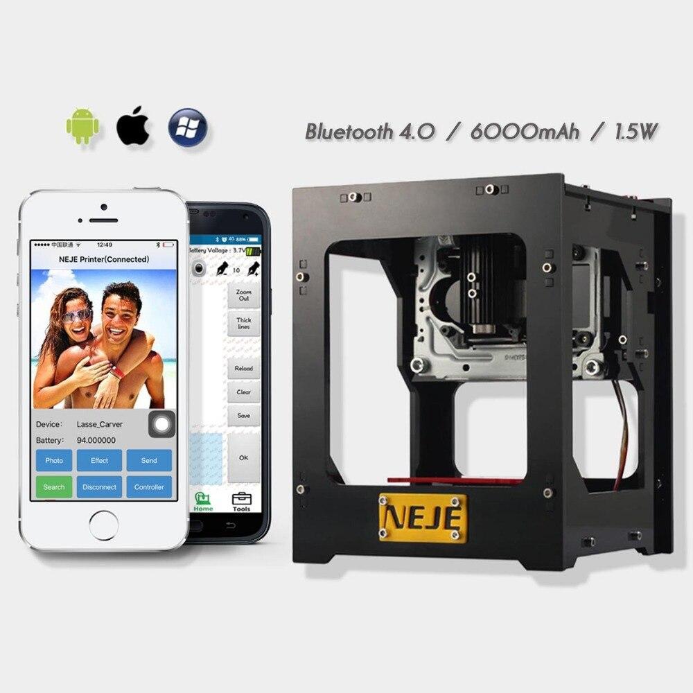 DK-BL 1500MW laser power DIY laser engraving machine Desktop Art Laser Engraver Printer Bluetooth 4.06000mAh