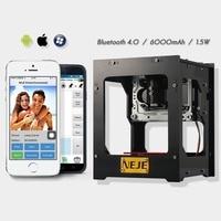 DK-BL 1500MW laser power DIY laser engraving machine Desktop Art Laser Engraver Printer Bluetooth 4.0/6000mAh