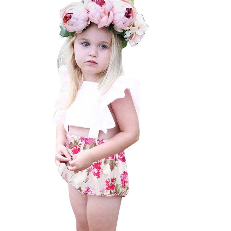 2017 Summer dresses Kids Newborn Baby Girls Floral Romper Jumpsuit Playsuit Outfits Sunsuit Baby Girl Clothes Ropa mujer