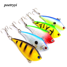 1pc/lot Winter Fishing Lures Hard Bait 5.5cm 7.5g VIB With Lead Inside Lead Fish Ice Sea FishingTackle Swivel Jig Wobbler Lure30 стоимость