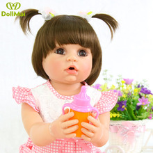 DollMai bebes reborn 56cm full silicone vinyl reborn baby dolls toys for children gift real cute newborn baby girl dolls japanese female full siize silicone 158cm sex dolls small breast with skeleton real solid anime love dolls for men