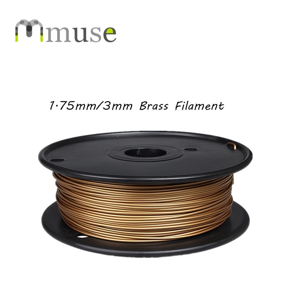 0.5 kg 3D Consumíveis de Impressão em Metal Bronze 3D Filamento 1.75 milímetros 3mm Para HUM/MakerBot/RepRap/ UP/Mendel Impressora 3D