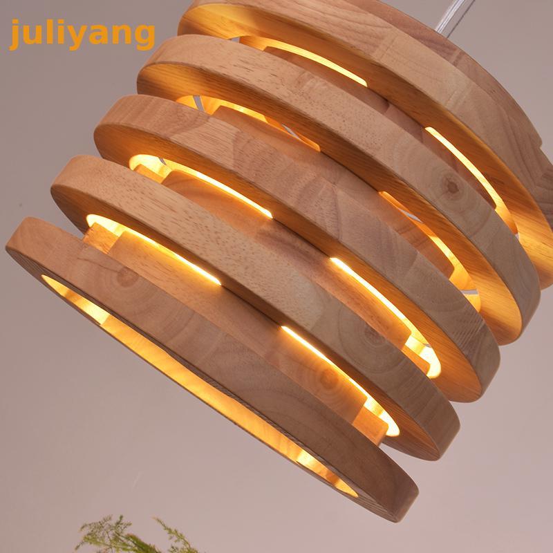 Lampes de lustre en bois massif de Designers nordiques de E-HOMELampes de lustre en bois massif de Designers nordiques de E-HOME