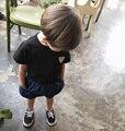2017 Verão Novo Padrão de Jogo Estrela Camiseta de Manga Curta Bebê Menina três Cores Chama Garoto Encabeça T Meninos T Camisas Roupas Cicishop