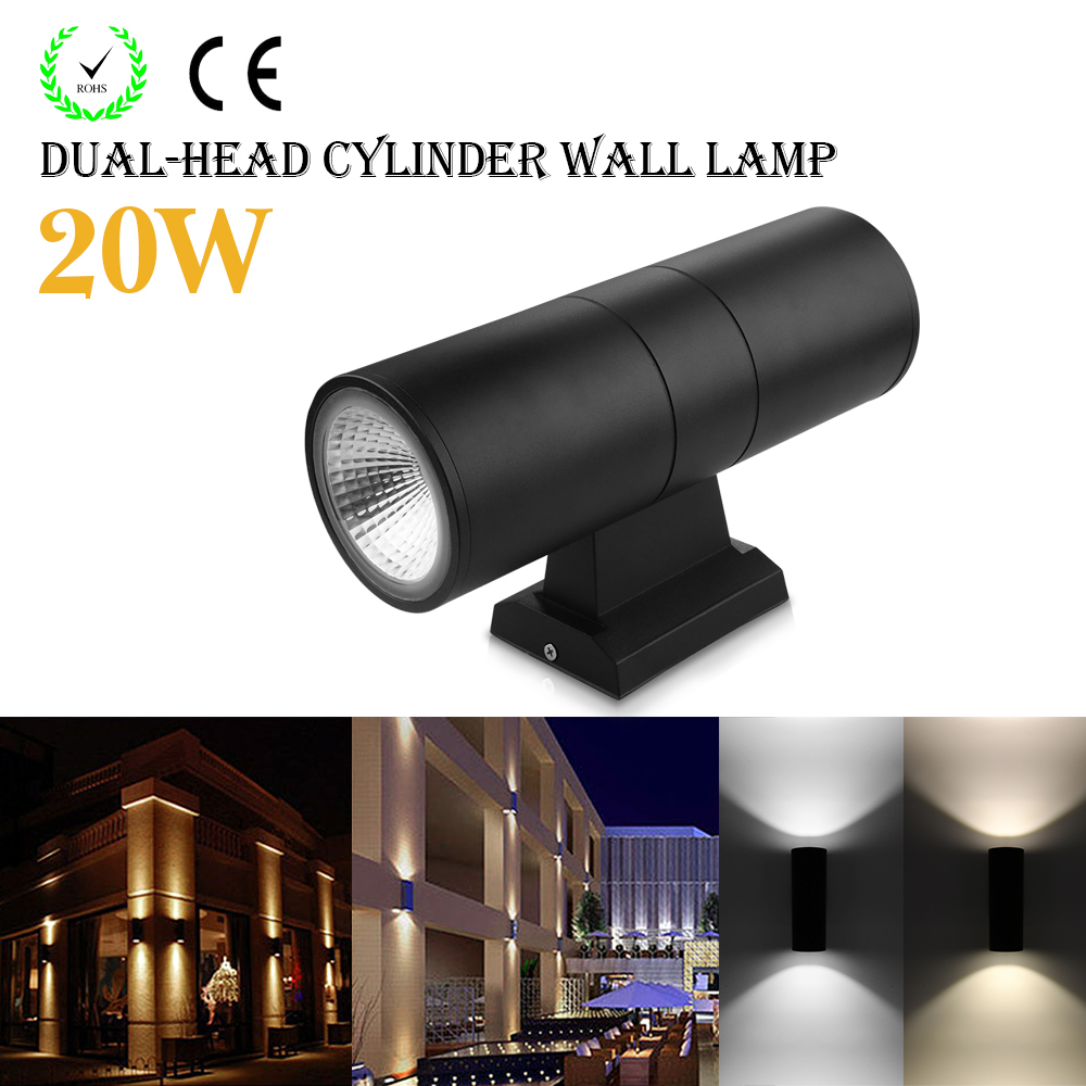20W COB LED Wall Light Up And Down Round Wall Lamp Waterproof IP65 AC 85-265V Indoor Outdoor Lighting And Decoration коврик для мыши a4tech bloody mp 50ns черный рисунок