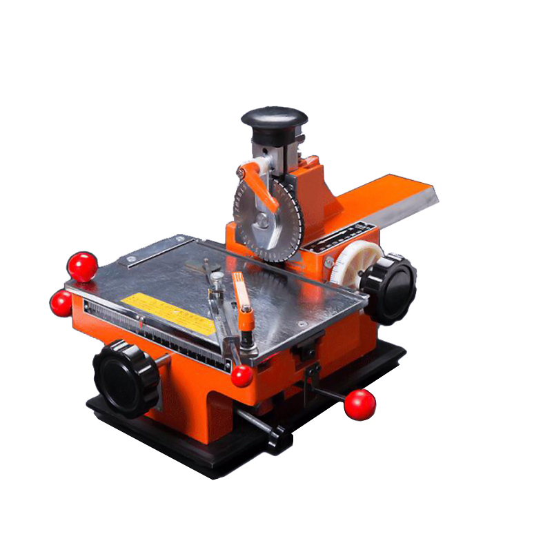 Manual steel embossing machine 195*135mm Embosser Marking Machine For Industrial Nameplate dog tag steel ID card automatic metal nameplate marking machine
