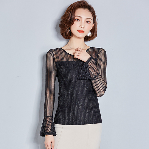 I548393 High Quality Fashion OL Chiffon Shirt