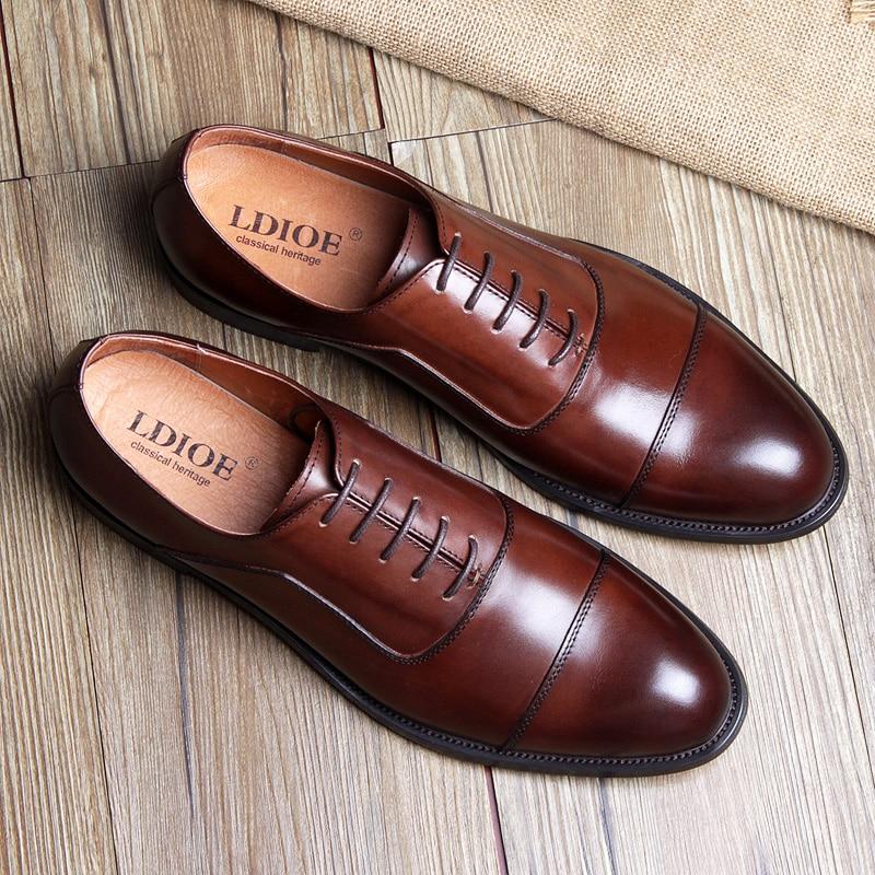 Três Sapatos De brown Dos Vestido Terno Homens Oxford red Britânico Marrom Couro Black Conjunta Apontou Sapatas Casamento Retro q4wXvAxv