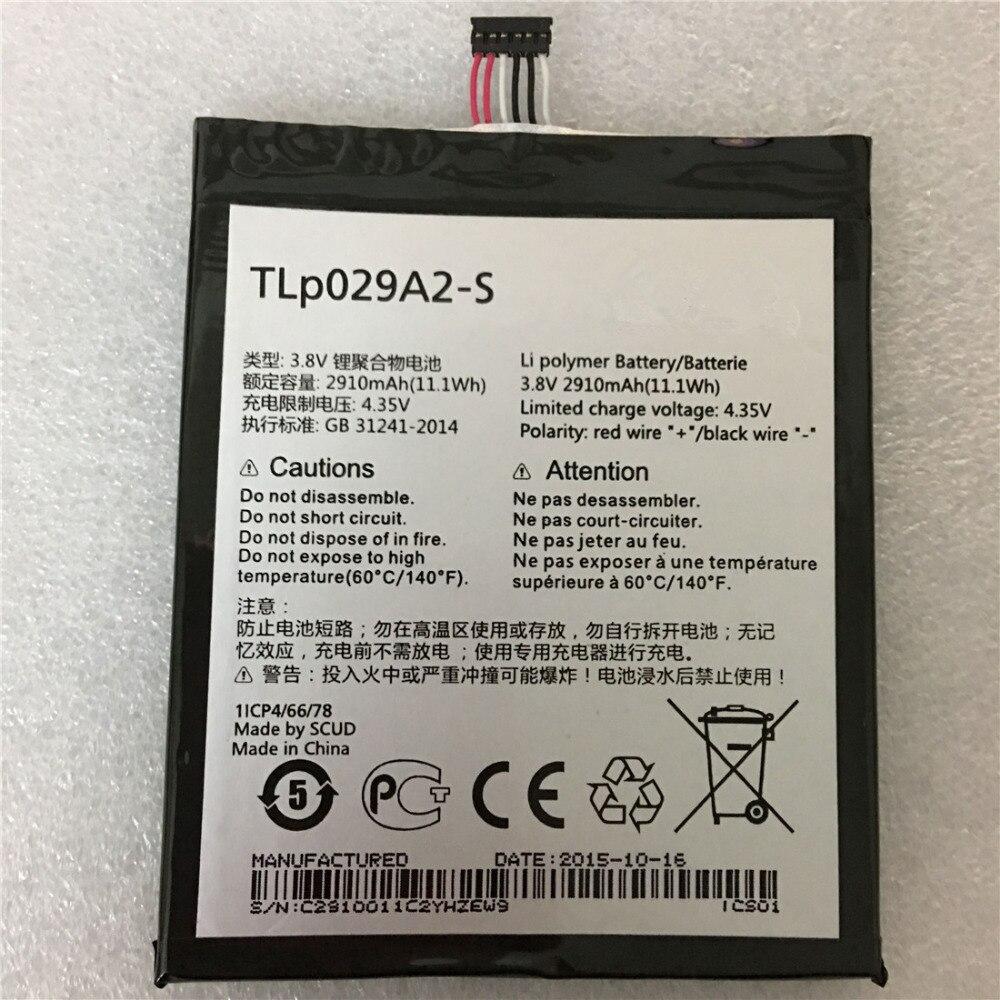 2910mAh TLp029A2 TLP029A2-S Battery For 2910mAh TLp029A1 TLp029AJ TLPOne Touch Idol 3 I806 6045Y 6045K Batterie Batterij Bateria
