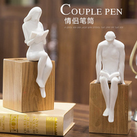 Simple lovers characters pen moldel creative decorations practical business gifts and gifts for Valentine's Day