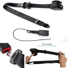 Adjustable Front Fastener Black Extension Safety Belt Universal Seat 3.2m Long Lock Catch Retractable Diagonal