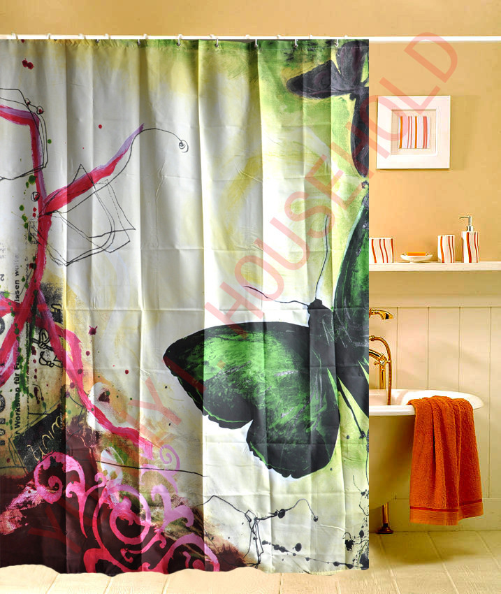 Home Goods Shower Curtains.2014 Time Limited New Cortinas Butterfly Printing Shower