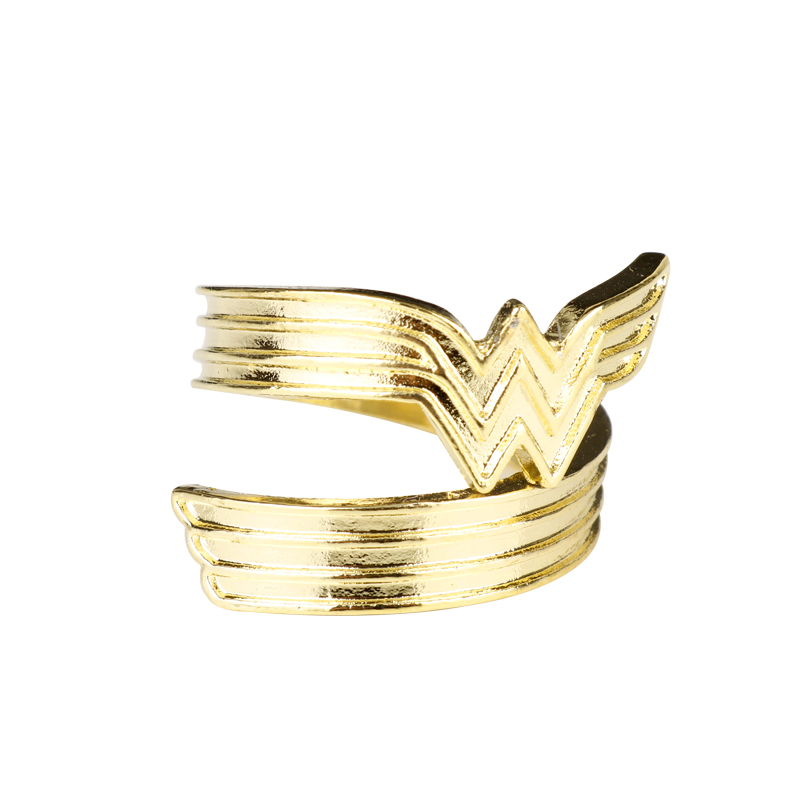 Wholesale Movie Wonder Women Ring Women Men Superhero W Logo Opening Finger Ring Party Wedding Birthday Gift
