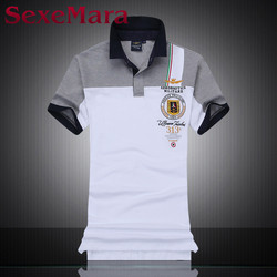 Men polo solid stand collar short sleeves polos lion cotton pique tops summer mens clothing brand.jpg 250x250