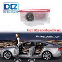 LED para puerta de coche de bienvenida Proyector láser Logo puerta sombra fantasma luz LED para Mercedes benz w212 w166 w176 E200 E300 e260 AMG