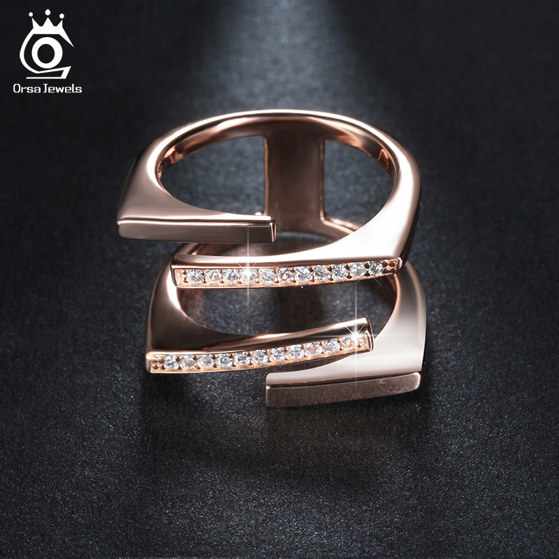 ORSA JEWELS Rose Gold Color&Si...