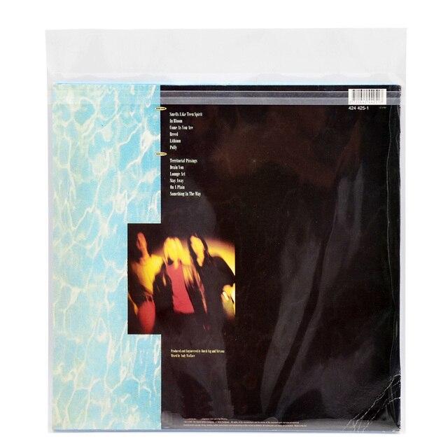 """12 """"32.3 センチメートル * 32 センチメートル 50 個 OPP ゲル記録保護自己粘着バッグ保護袋 CD ターンテーブル Lp ビニールレコード"""