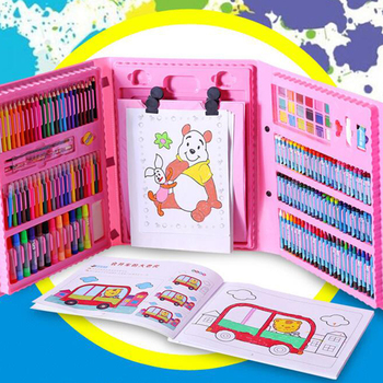 New children's painting set watercolor pen brush stationery children's school supplies flower stand painting brush