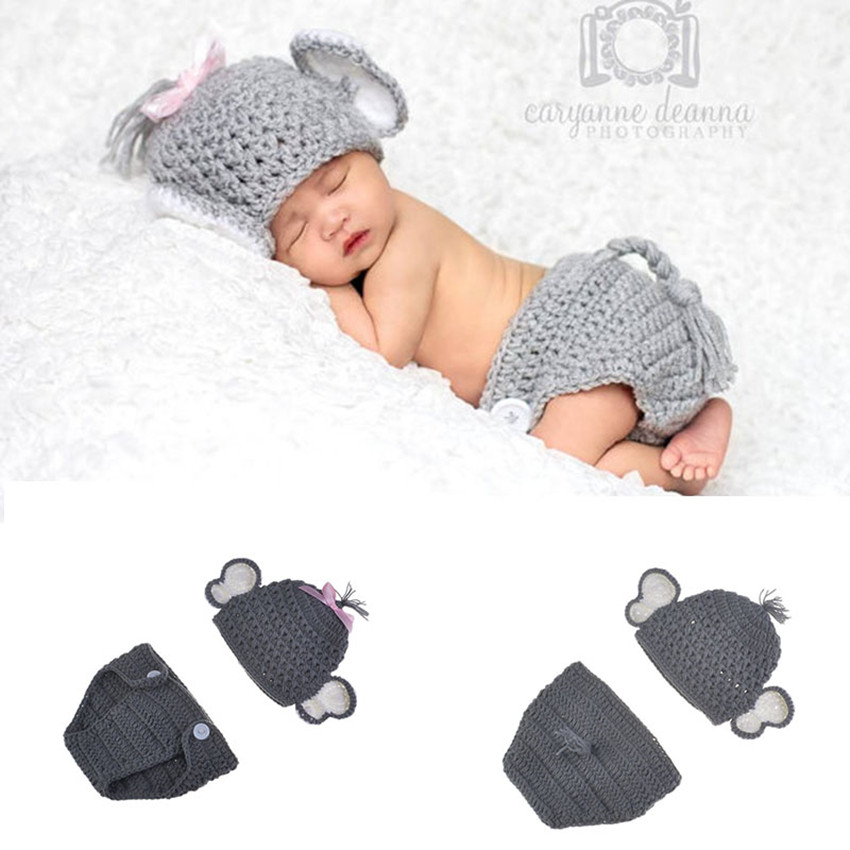 Amazon.com: Newborn Crochet Elephant Hat and Diaper Cover for baby ... | 850x850