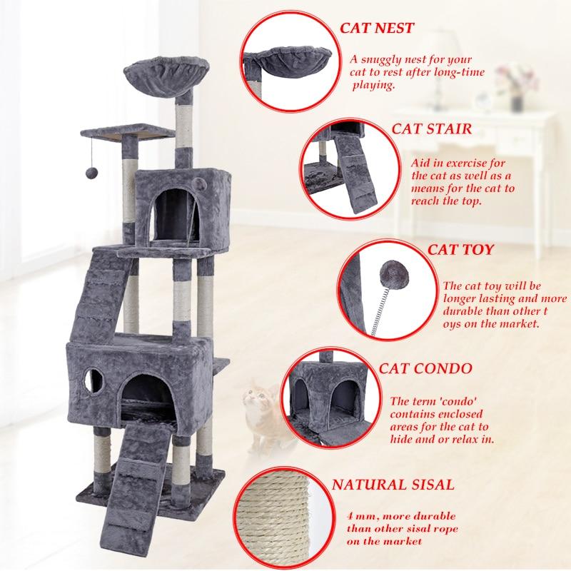 Domestic Delivery Cat Trees Cat Climb Frame Cat Furniture Scratchers Pet Tree House Pet Supplies Kitten