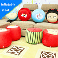 1PC Cartoon Inflatable Stool With Thickened Plush Cover 120KG Large Load Capacity Portable Decorative Furniture Pneumatic Stools