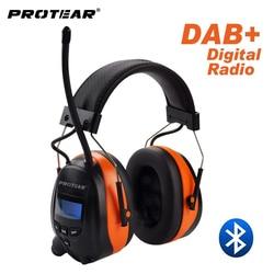 Protear DAB +/DAB/FM Radio Protezione Acustica 25dB Batteria Al Litio Paraorecchie Elettronico Bluetooth Cuffia di Protezione per le Orecchie