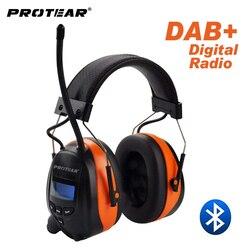 Protector de oído de Radio Protear DAB +/DAB/FM 25dB batería de litio orejeras de auriculares electrónicos Bluetooth