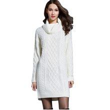 f8e48b6642490 Turtleneck Autumn Winter Bandage Knitted Dress Women Tunic Casual Bodycon  Boho Runway Dress Hippie Chic Dress Plus Size 150