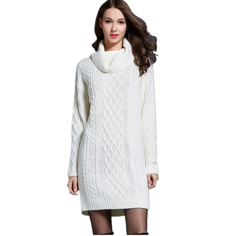 Turtleneck Autumn Winter Bandage Knitted Dress Women Tunic Casual Bodycon Boho Runway Dress Hippie Chic Dress Plus Size 150