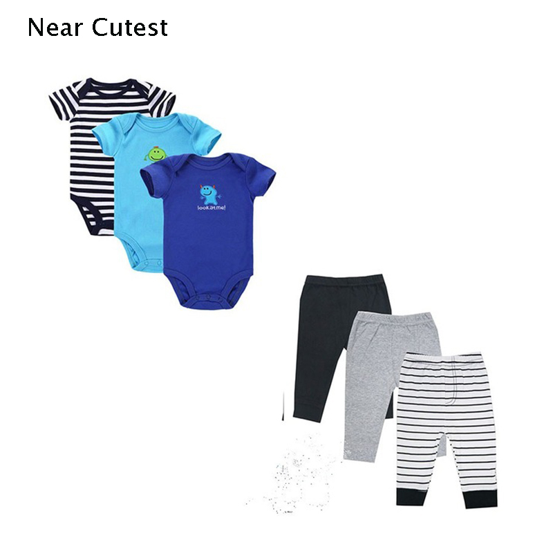 Near Cutest 6pcs/lot Baby Girl Clothing Set Short Sleeves Baby Wear Spring Autumn Casual ...