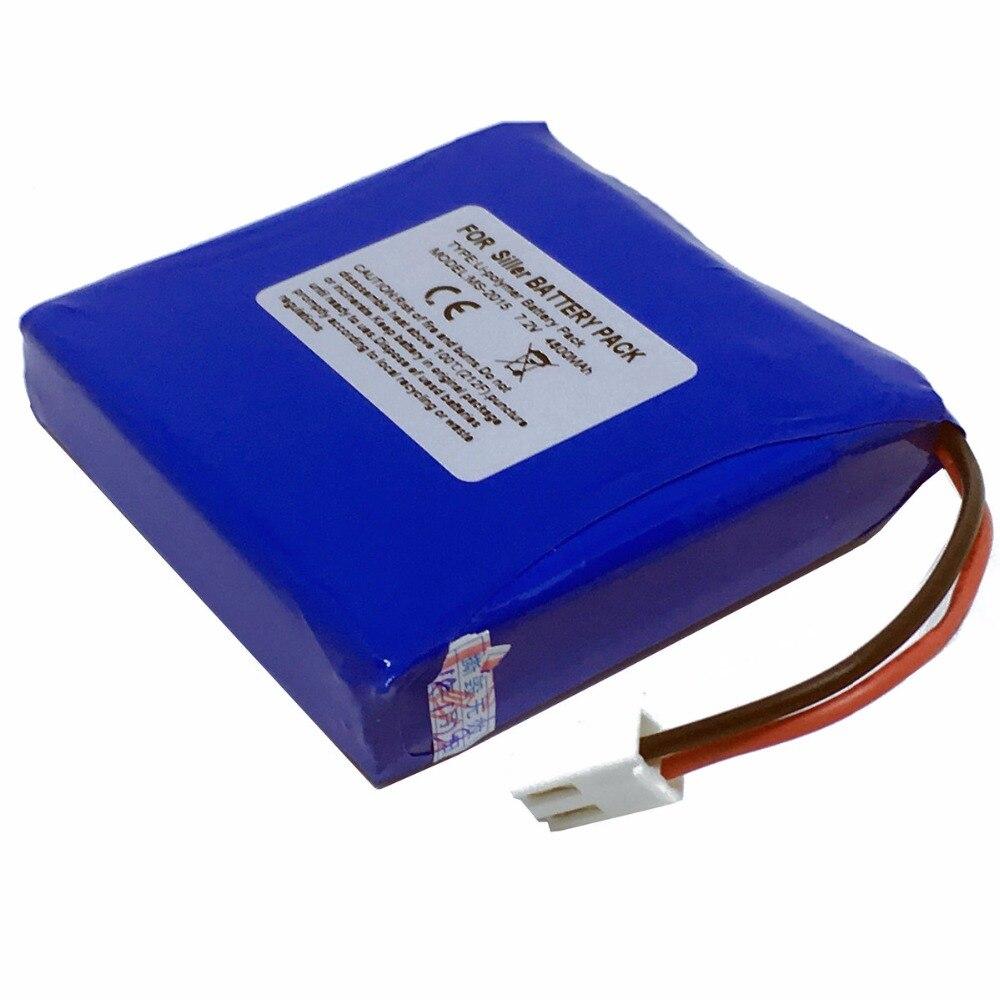 4800mAh New Optical fiber Battery for Schiller Cardiovit Ms-2015 AT102+ MS-2007 MS-2010 rolsen ms 1770se