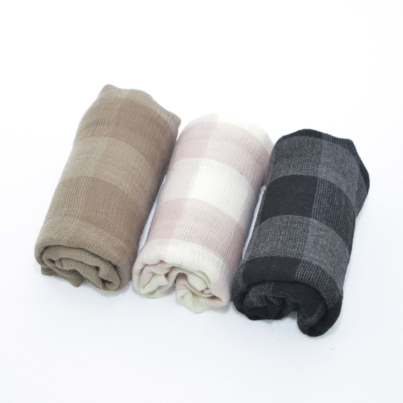 New Fashion Solid Colors Plaid Soft Kids Girls Boys Baby Child Toddler Cotton Scarf Winter Warm Shawl Neck Long Scarves Pashmina
