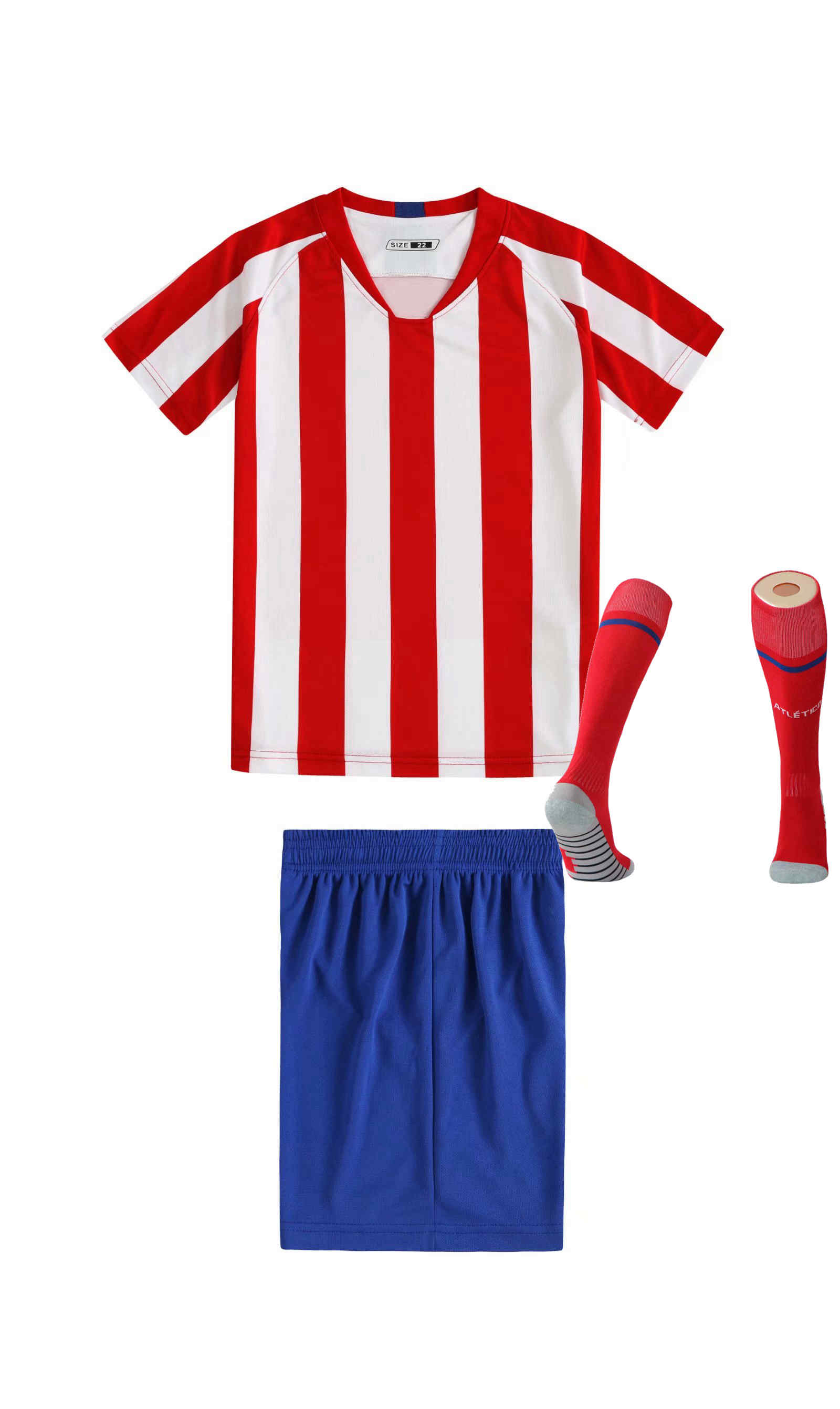 Children Sets football uniforms boys and girls sports kids youth training suits blank custom print soccer set with socks 43