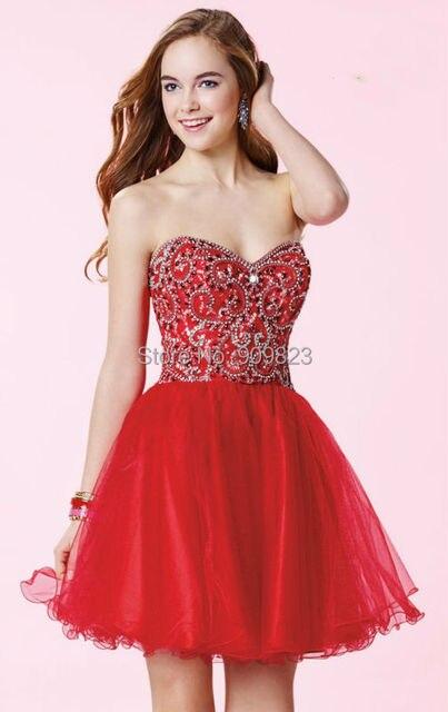 8cf296d45 Del amor atractivo plateado con cuentas brillantes diamantes cintura  Natural corto una línea rojo lindo vestidos