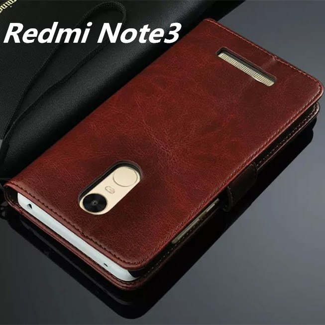 best loved f0d7a 6dfe6 US $4.96 29% OFF|Fundas Redmi Note 3 Flip Cover Case For Xiaomi Redmi Note  3 Pro Prime Magnetic Leather Holster (only for Standard 150mm model )-in ...