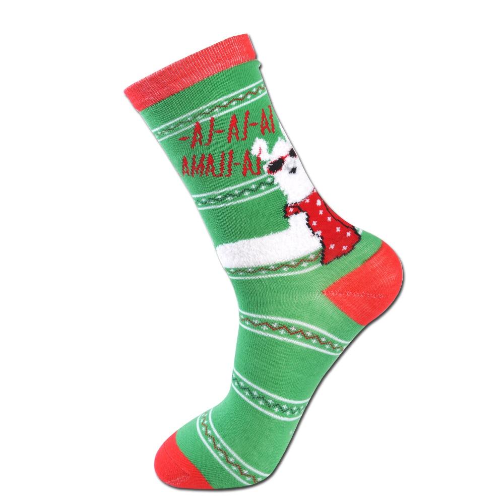 Un paquete de cinco pares, calcetines de Navidad de las señoras. - Ropa de mujer
