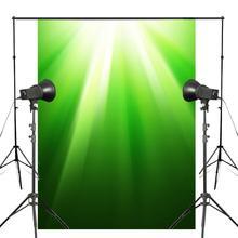 Fondos de fotografía de primavera verde luz del sol foto estudio Backgound pared fotografía Fondo 5x7ft